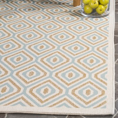 Armenta Cream Indoor/Outdoor Area Rug Rug Size: 53 x 77