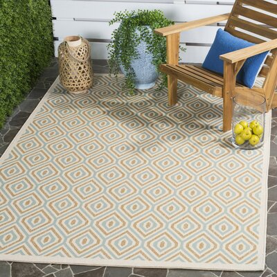 Armenta Cream Indoor/Outdoor Area Rug Rug Size: Round 67