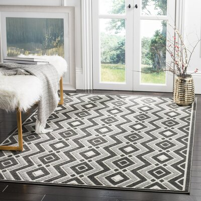 Charlot Gray Outdoor Area Rug Rug Size: 33 x 53