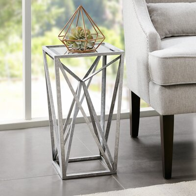 Saterfiel End Table Color: Silver