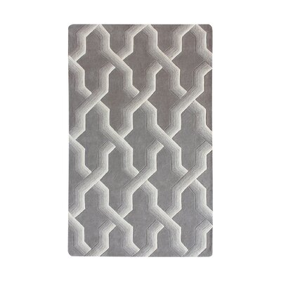 Bollman Wool Hand-Tufted Gray/Ivory Area Rug Rug Size: Square 16