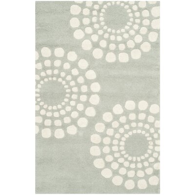 Dash Hand-Tufted Wool Gray/Ivory Area Rug Rug Size: Rectangle 76 x 96