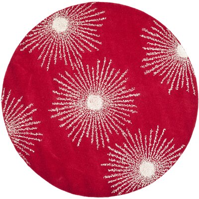 Dash Red/Ivory Rug Rug Size: Rectangle 36 x 56