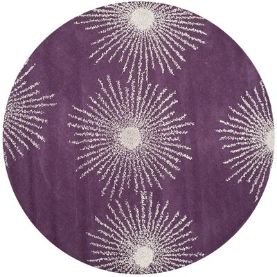 Dash Purple & Ivory Area Rug Rug Size: Rectangle 36 x 56