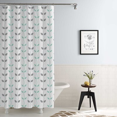 Shawsville Waterproof Printed 14 Piece Shower Curtain Set Color: Aqua/Gray