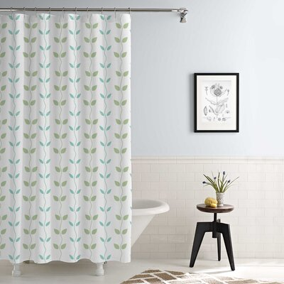 Cleve Waterproof Printed 14 Piece Shower Curtain Set Color: Aqua/Sage