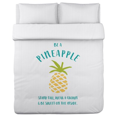 Orrville Be a Pineapple Duvet Cover Size: Twin