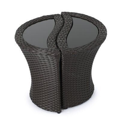 Cherita Outdoor Wicker Seperable End Table
