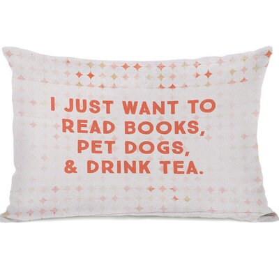 Palmerston Read Books Pet Dogs Drink Tea Lumbar Pillow