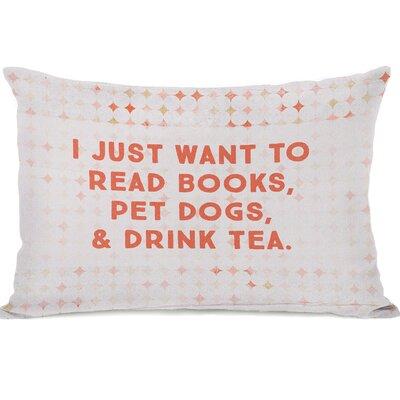Palmerston Read Books Pet Dogs Drink Tea Lumbar Pillow