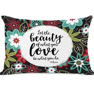 Brooker The Beauty of What You Love Floral Lumbar Pillow