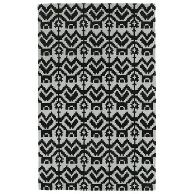 Hinton Charterhouse Hand-Tufted Black Area Rug Rug Size: Rectangle 9 x 12