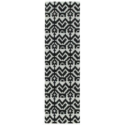 Hinton Charterhouse Hand-Tufted Black Area Rug Rug Size: Runner 23 x 8