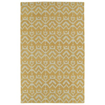 Hinton Charterhouse Hand-Tufted Butterscotch Area Rug Rug Size: 36 x 56