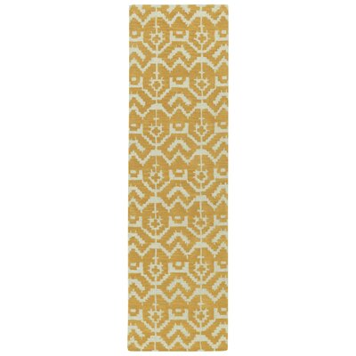 Hinton Charterhouse Hand-Tufted Butterscotch Area Rug Rug Size: Runner 23 x 8