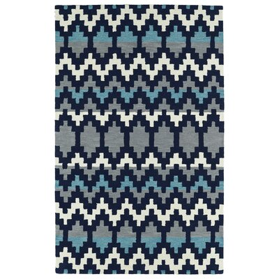 Chiana Hand-Tufted Navy Area Rug Rug Size: Rectangle 9 x 12