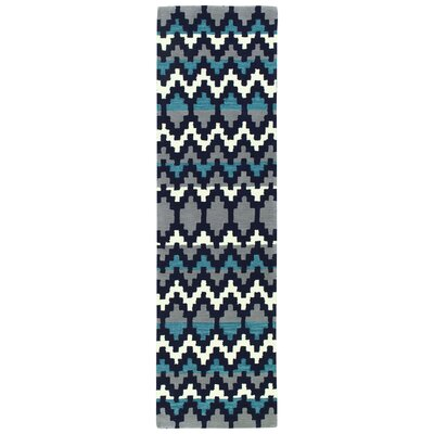 Chiana Hand-Tufted Navy Area Rug Rug Size: Runner 23 x 8