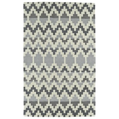 Hinton Charterhouse Hand-Tufted Gray Area Rug Rug Size: 36 x 56