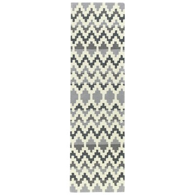 Chiana Hand-Tufted Gray Area Rug Rug Size: Runner 23 x 8