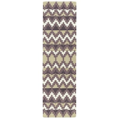Chiana Hand-Tufted Purple Area Rug Rug Size: Runner 23 x 8