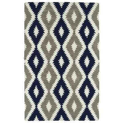 Hinton Charterhouse Hand-Tufted Navy/Ivory Area Rug Rug Size: Rectangle 36 x 56