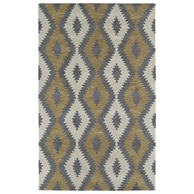 Hinton Charterhouse Hand-Tufted Camel Area Rug Rug Size: Rectangle 36 x 56
