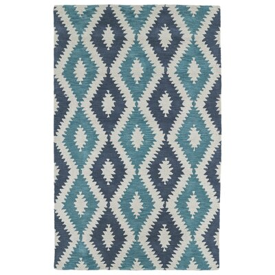 Hinton Charterhouse Hand-Tufted Turquoise Area Rug Rug Size: Rectangle 5 x 79