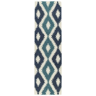 Hinton Charterhouse Hand-Tufted Turquoise Area Rug Rug Size: Runner 23 x 8