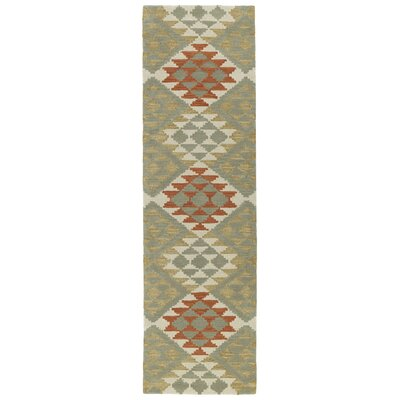 Hinton Charterhouse Hand-Tufted Paprika Area Rug Rug Size: Runner 23 x 8