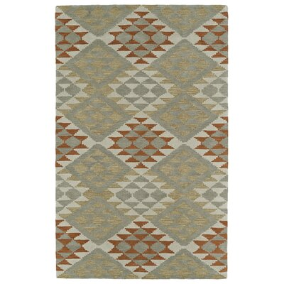 Hinton Charterhouse Hand-Tufted Paprika Area Rug Rug Size: Rectangle 9 x 12