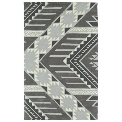 Hinton Charterhouse Hand-Tufted Gray Area Rug Rug Size: Rectangle 36 x 56