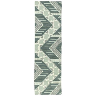 Hinton Charterhouse Hand-Tufted Mint Area Rug Rug Size: Rectangle 8 x 10