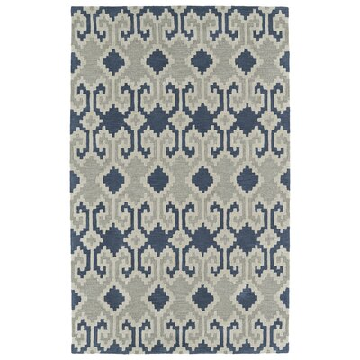 Hinton Charterhouse Hand-Tufted Denim Area Rug Rug Size: Rectangle 36 x 56