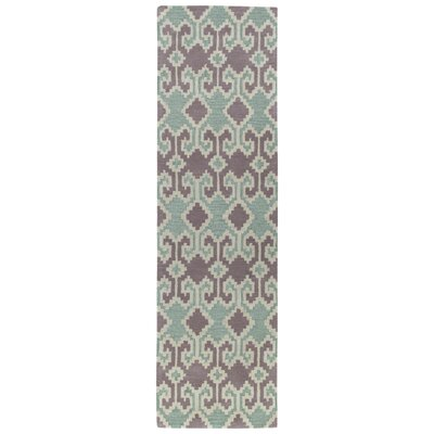 Hinton Charterhouse Hand-Tufted Purple Area Rug Rug Size: Runner 23 x 8