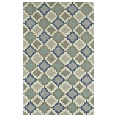 Hinton Charterhouse Hand-Tufted Denim Area Rug Rug Size: 36 x 56