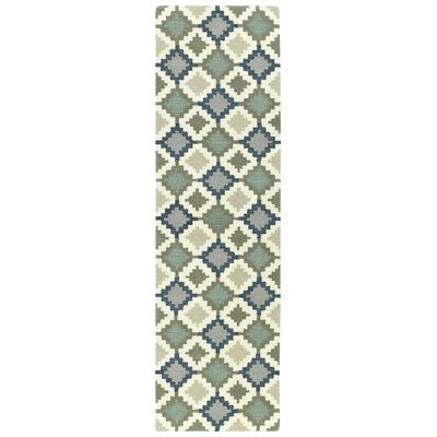Hinton Charterhouse Hand-Tufted Denim Area Rug Rug Size: Runner 23 x 8