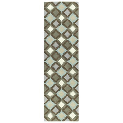 Hinton Charterhouse Hand-Tufted Gray Area Rug Rug Size: Runner 23 x 8