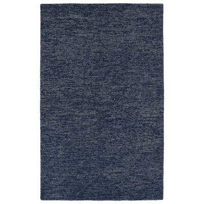 Cilegon Handmade Navy Area Rug Rug Size: Rectangle 36 x 56
