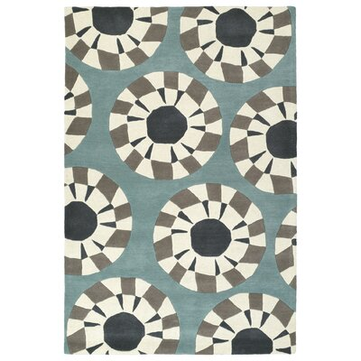 Ronnie Hand-Tufted Gray/Ivory Area Rug Rug Size: 36 x 53