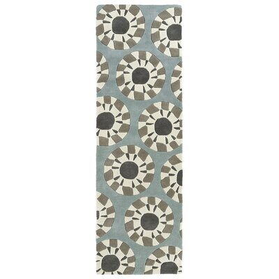 Ronnie Hand-Tufted Gray/Ivory Area Rug Rug Size: Rectangle 36 x 53