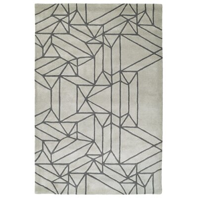 Ronnie Hand-Tufted Mint Area Rug Rug Size: Rectangle 36 x 53