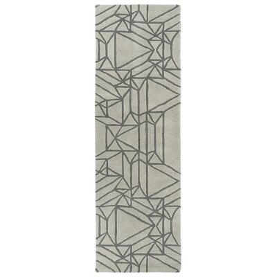 Ronnie Hand-Tufted Mint Area Rug Rug Size: Runner 26 x 8