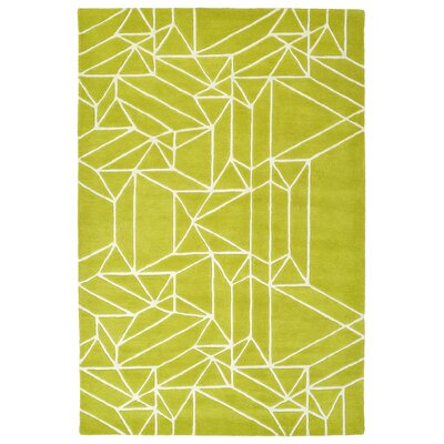 Ronnie Hand-Tufted Lime Green Area Rug Rug Size: 2 x 3