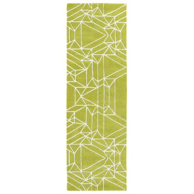 Ronnie Hand-Tufted Lime Green Area Rug Rug Size: Rectangle 8 x 10