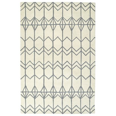 Ronnie Hand-Tufted Ivory Area Rug Rug Size: Rectangle 2 x 3