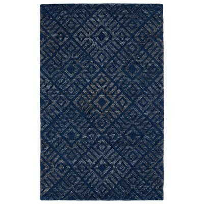 Cilegon Handmade Blue Area Rug Rug Size: Rectangle 2' x 3'