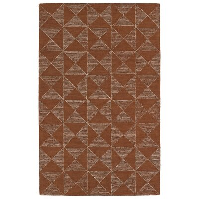 Cilegon Hand-Tufted Paprika/Linen Area Rug Rug Size: Rectangle 5 x 79