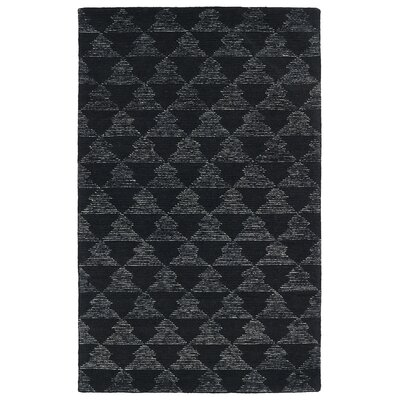 Cilegon Handmade Black Area Rug Rug Size: Rectangle 8 x 10