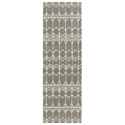 Ronnie Hand-Tufted Gray Area Rug Rug Size: Rectangle 36 x 53