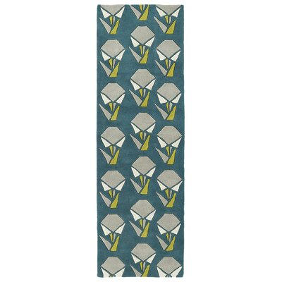 Ronnie Hand-Tufted Teal Area Rug Rug Size: Rectangle 5 x 76